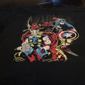 Superheroes by marvel vintage t-shirt